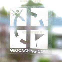 Groundspeak Cache sticker grün, large 12 x 25 cm