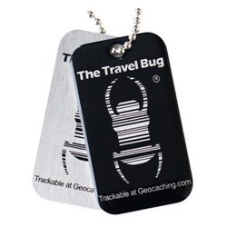 QR Travel Bug® Anhänger Black