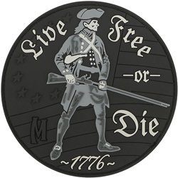 Maxpedition Patch Live Free or Die Schwarz