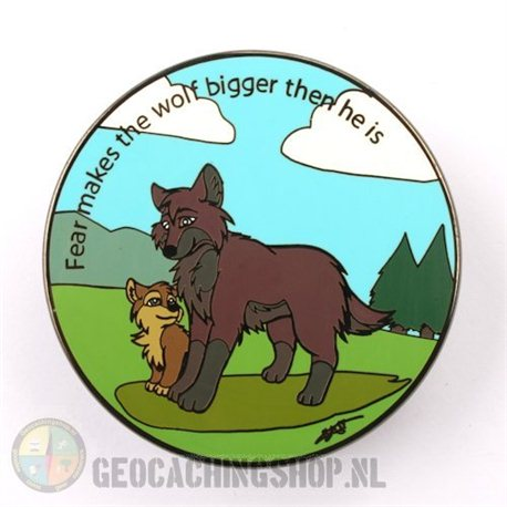 The Wolves Are Coming Black Nickel Geocoin