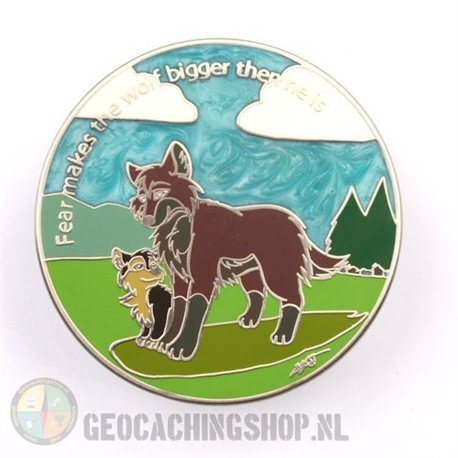 The Wolves Are Coming Antique Nickel LE100 Geocoin