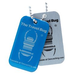 QR Travel Bug® - Blue