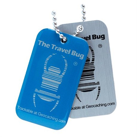 QR Travel Bug® Anhänger Blue