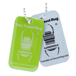 QR Travel Bug® Anhänger Green