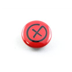 Geocaching Logo - Button, rot (Nr. 14)