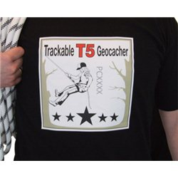 T5 Geocaching, Kletter T-Shirt (trackable)