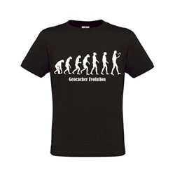 Evolution T-Shirt Schwarz