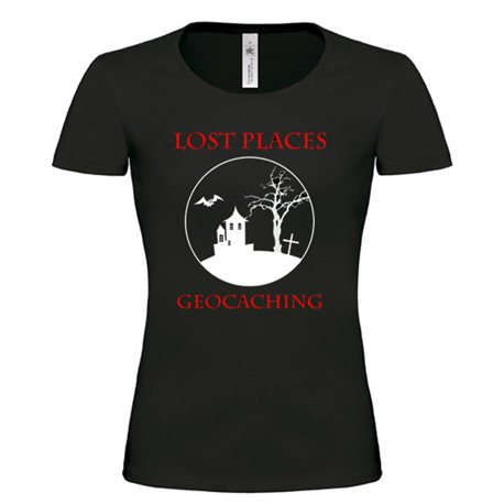 Girlie Shirt Lost Places Schwarz