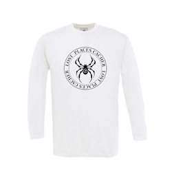 Longsleeve Lost Places Spider Weiß