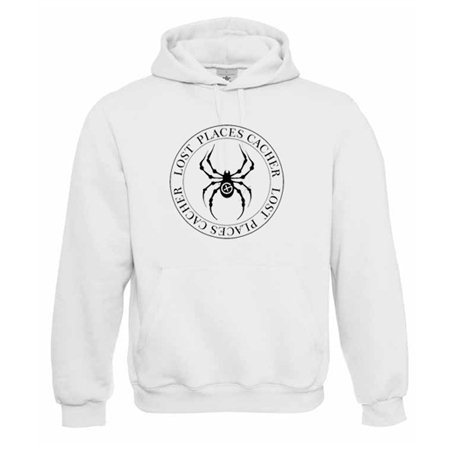 Lost Places Spider, Kapuzen-Pullover (weiss)