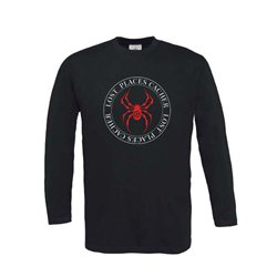 Longsleeve Lost Places Spider Schwarz/Rot