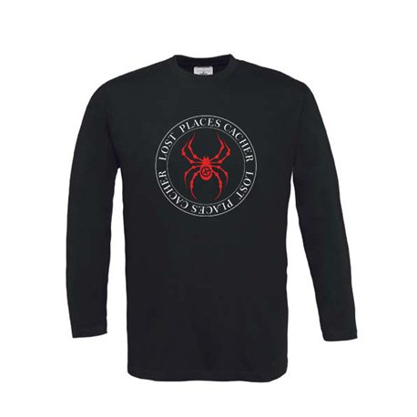 Lost Places Spider - Longsleeve (schwarz/rot)