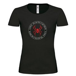 Girlie Shirt Lost Places Spider Schwarz/Rot