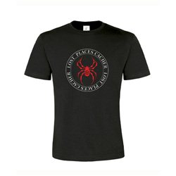 T-Shirt Lost Places Spider Schwarz/Rot