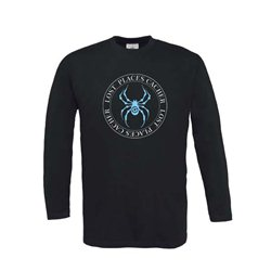 Lost Places Spider - Longsleeve (schwarz/blau)