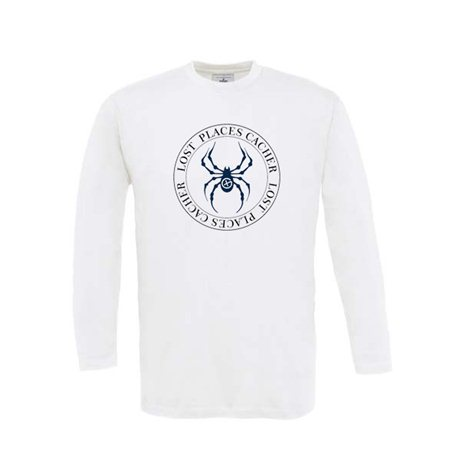 Longsleeve Lost Places Spider Weiss/Blau