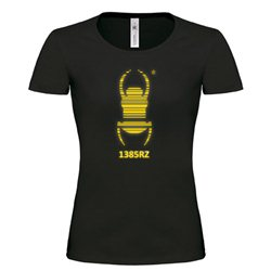 Girlie Shirt Travel Bug® Deluxe Gold