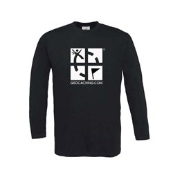 Groundspeak Logo - Long Sleeve (schwarz)