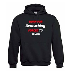 Born for Geocaching, Kapuzen-Pullover (schwarz)
