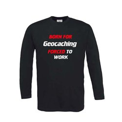 Born for Geocaching - Longsleeve (schwarz)