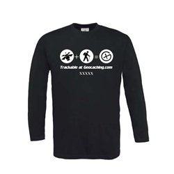 Satellit trackable - Longsleeve (schwarz)