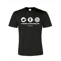 Satellit trackable, T-Shirt (schwarz)