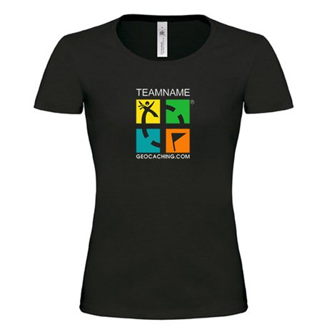 Groundspeak - Girlie Shirt, mit Name (farbig)
