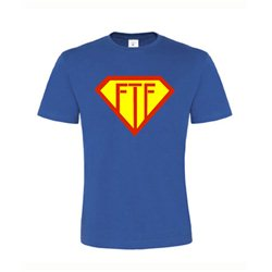 Super FTF, T-Shirt (royalblau)