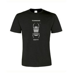 Travel Bug® - T-Shirt mit Name (schwarz)