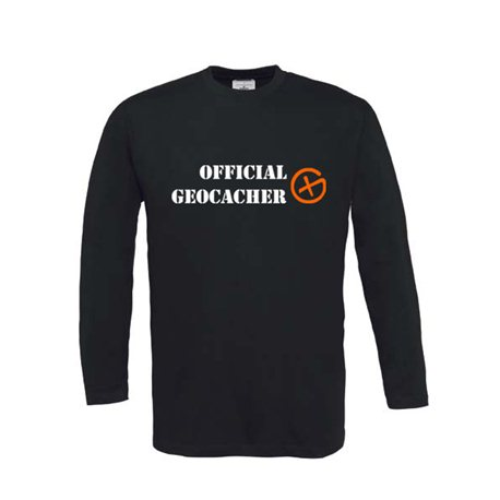 Official Geocacher - Longsleeve (schwarz)