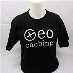 Geocaching, T-Shirt (schwarz) (M)