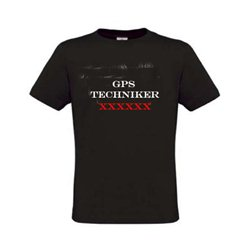 Trackable GPS Techniker, T-Shirt (schwarz)