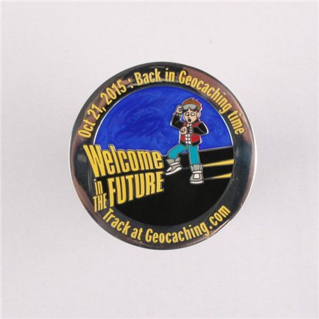 'It''s Geocaching Time Geocoin Polished Silver LE'
