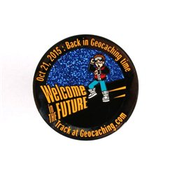 'It''s Geocaching Time Geocoin Black Nickel RE'