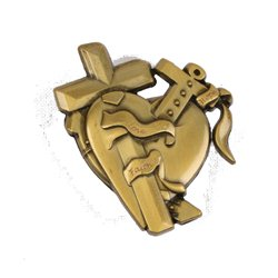 Love-Faith-Hope Geocoin Antikes Bronze LE