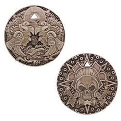 Aztec Pirate Geocoin- Antikes Gold