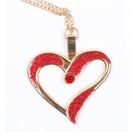 Eternal Love Geocoin - Polished Gold - Red