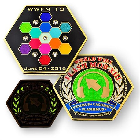 WWFM Flash Mob XIII event geocoin