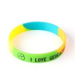 Armband - I Love Geocaching Multi Color