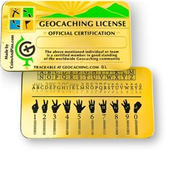 Geocaching License, Golden