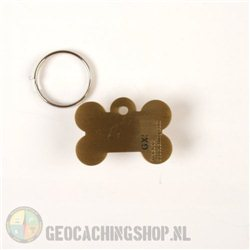 Happy Birthday Geocoin - antiek goud
