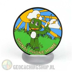 Signal Phone Home Black Nickel Geocoin