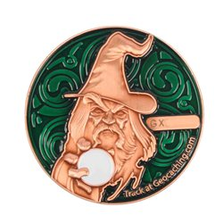 The Magician Geocoin - AC Grün - XLE