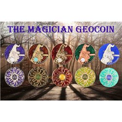 The Magician Geocoin - Set of 5