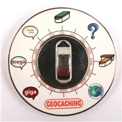 Cache Clock Geocoin - PN Blau - RE