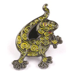 Gecko Pin - Yellow Crawler