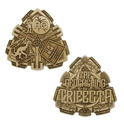 Trifecta Antique Bronze Geocoin