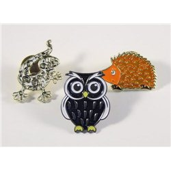 Pin Set Eule Gecko Hedgehog