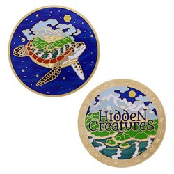 Geocoin Set - Hidden Creatures (inkl. travel tag)