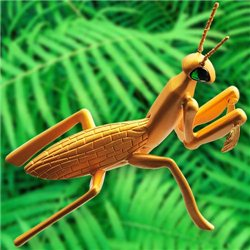 Praying Mantis Satin Gold Geocoin